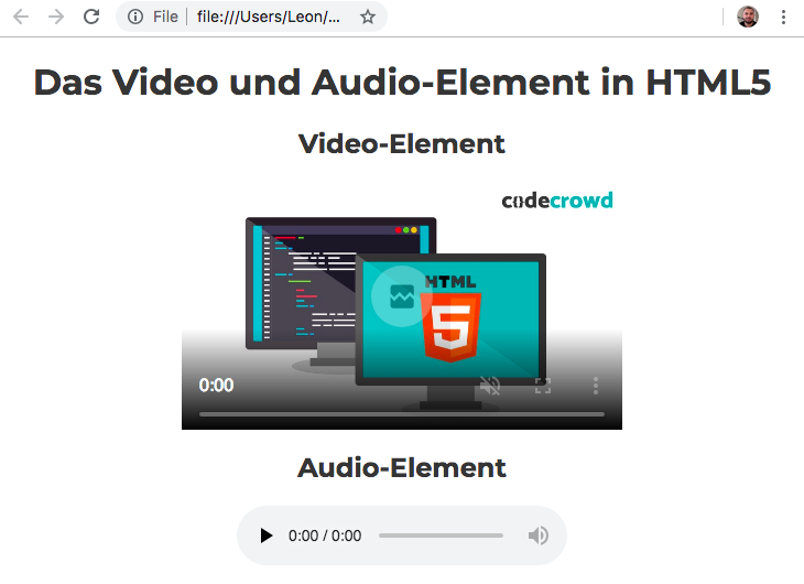 Video und Audio in HTML - Audio