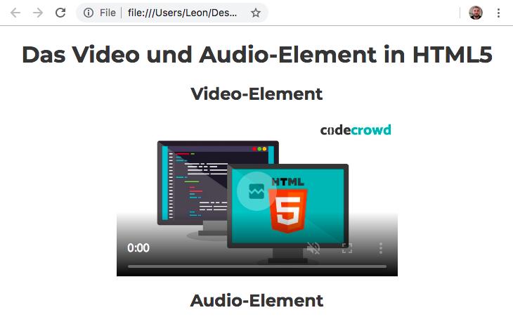Video und Audio in HTML5